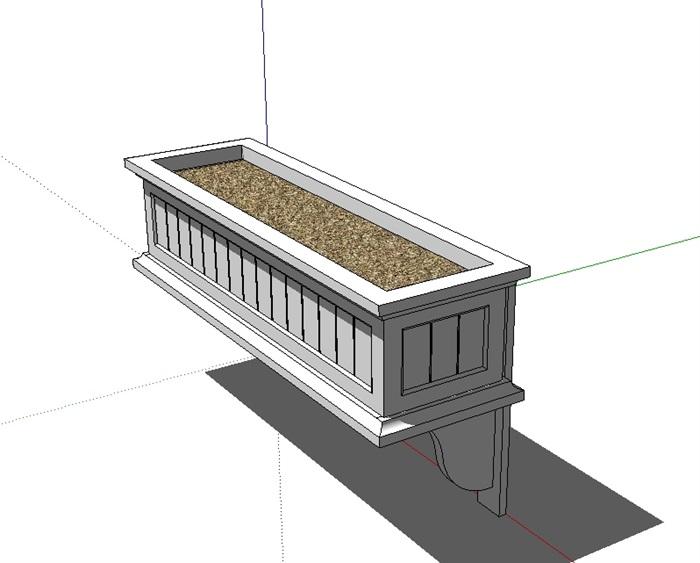 园林景观独特造型的花箱设计su模型,模型有材质无贴图,可下载稍作简单的修改后使用,具有一定的使用价值,欢迎下载。