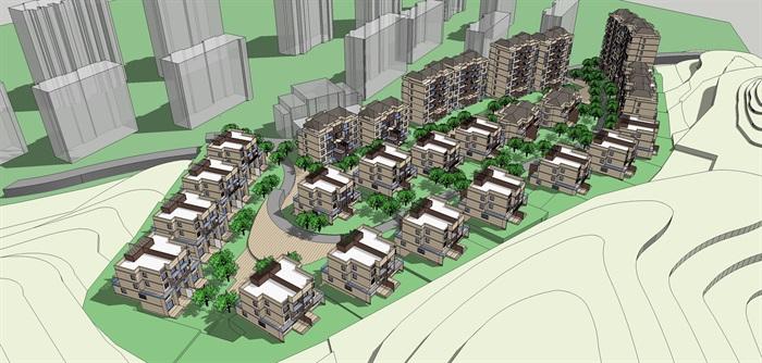 山地别墅及高层住宅小区(3)