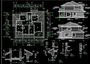 混结构别墅设计cad施工图 -设计素材下载
