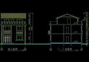 砖混结构别墅设计cad施工图 -设计素材下载
