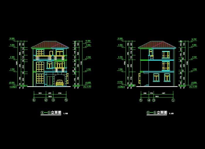 欧式详细的三层盘管原创cad施工图[建筑]cad别墅怎么图画地暖图片