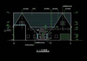 细豪华别墅设计cad施工图 -设计素材下载