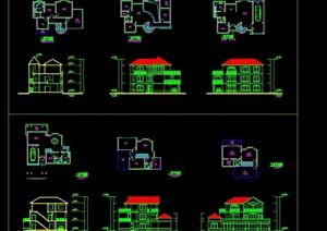 别墅住宅造型设计cad方案图