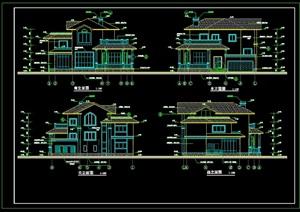 某欧式详细别墅设计cad全套施工图-设计素材下载