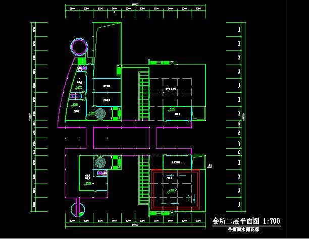 某会所室内设计平面图