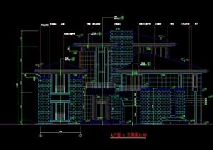 北京某经典别墅全套设计cad施工图-施工图设计素材下载