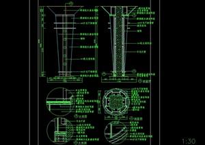 现代建筑结构柱子设计cad施工详图