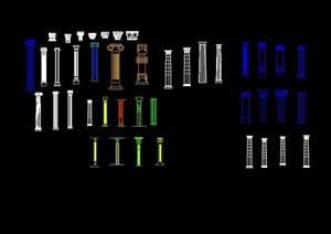 欧式建筑柱子设计cad方案