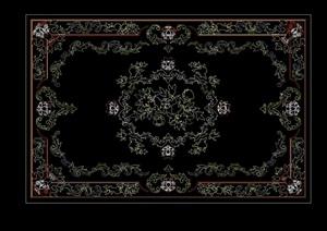 地毯详细设计cad方案