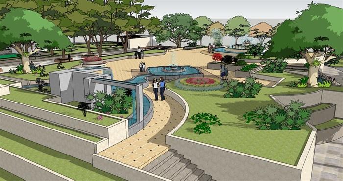 园林景观设计城市公园广场景观设计jpg方案,包含了城市公园公共绿地、广场设计效果图,分析图,具有很好的使用价值,欢迎下载。