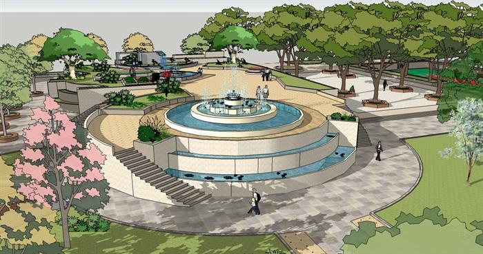 园林景观设计城市公园广场景观设计jpg方案[原创]