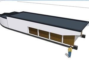 多款车库入口棚架廊设计SU(草图大师)模型