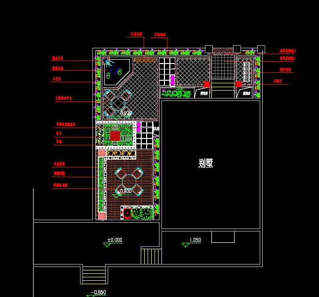别墅庭院设计方案图[原创]