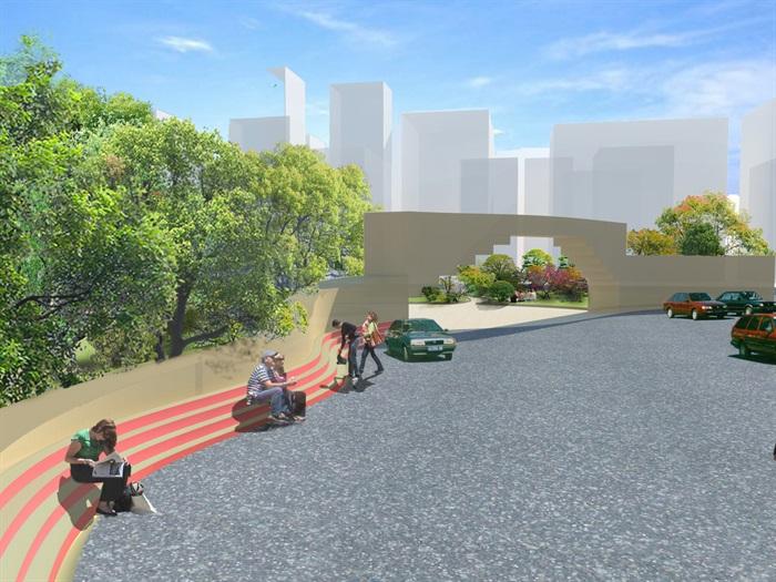 室外环境设计公园设计jpg效果图[原创]