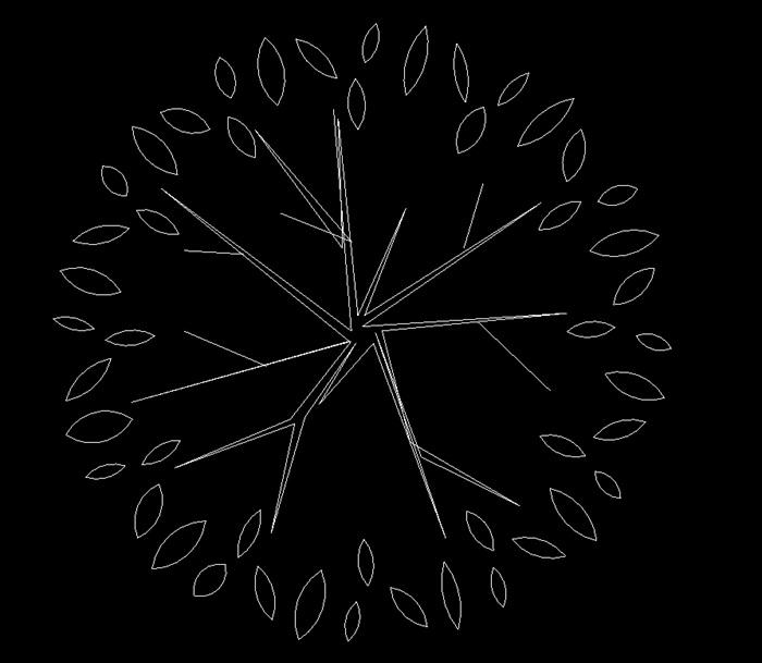 素材花草v素材cad方案[原创]cad不规则多边形图片