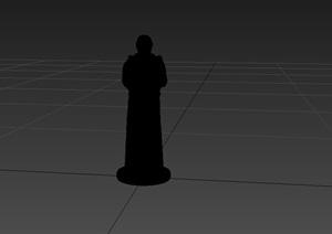 现代人物雕塑素材3d模型