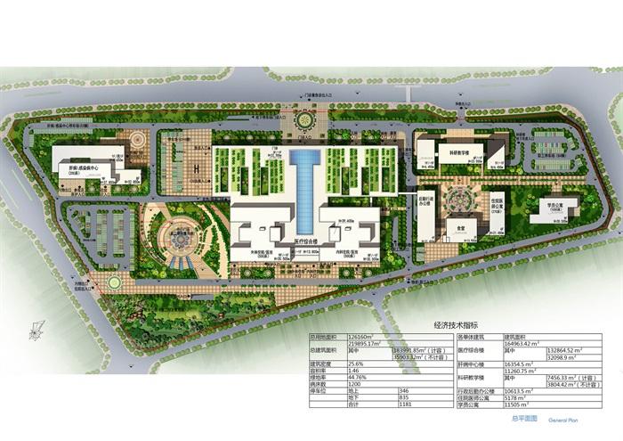 某大型医院规划及建筑方案设计(含文本、CAD)(6)