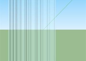 现代简单窗帘设计SU(草图大师)模型