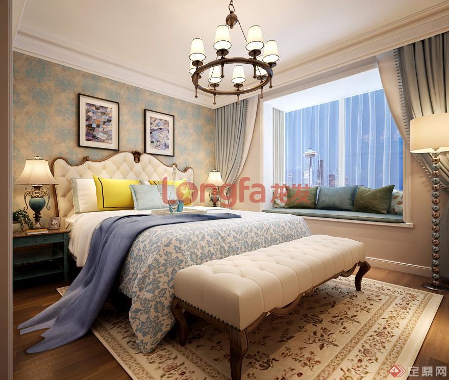 主卧室 枫林绿洲 简美风格 装修效果图