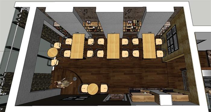 中式室内餐厅空间设计3d模型[原创]