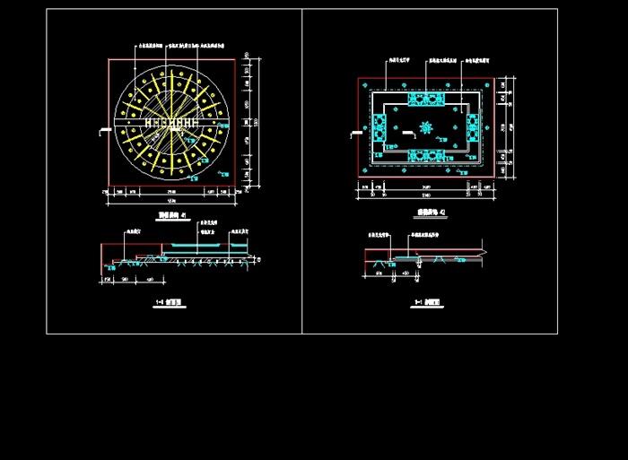 室内装修顶棚装饰cad施工图