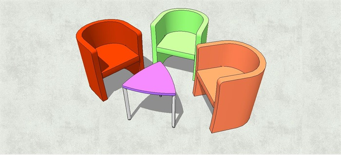 幼儿园儿童桌椅su模型[原创]