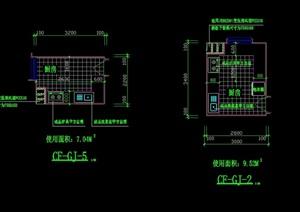厨房设计cad方案图集