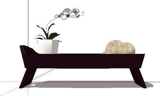现代花架及盆栽设计su模型[原创]