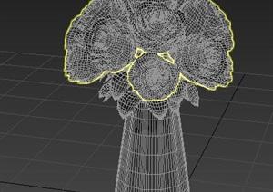 插花花瓶素材设计max模型