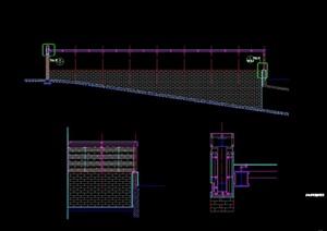 现代车库廊架cad方案详图