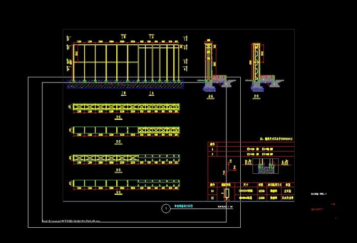 景墙钢结构设计cad方案[原创]