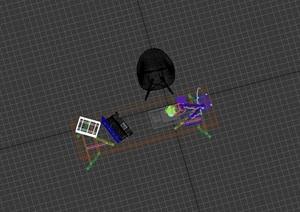 简约室内桌椅组合设计3d模型