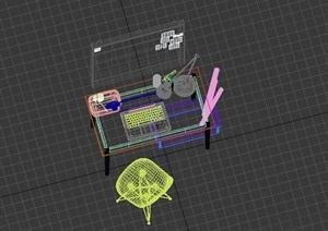 现代室内桌椅详细设计3d模型