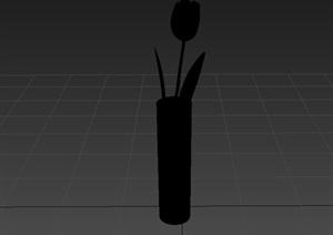 花瓶插花素材3d模型