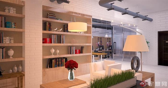 办公室,柜子,台灯