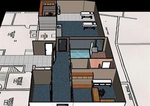 某现代医院空间SU(草图大师)模型