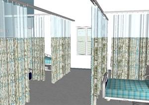 某病房室内设计SU(草图大师)模型