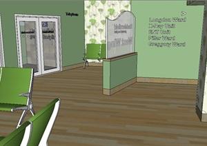 某室内医疗空间SU(草图大师)模型