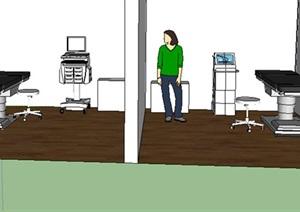 某医疗空间设计SU(草图大师)模型