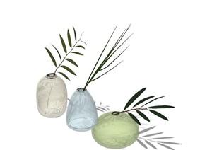 现代花瓶室内装饰素材SU(草图大师)模型