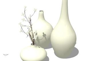 花瓶摆件素材设计SU(草图大师)模型