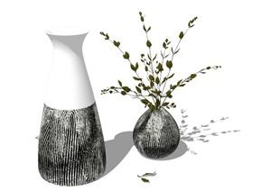 花瓶装饰素材SU(草图大师)模型
