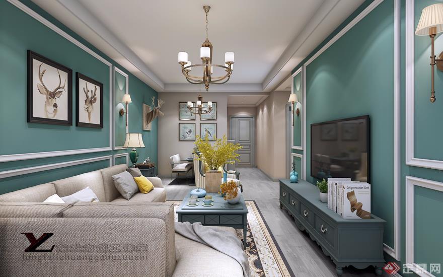 客厅 简美风格 装修效果图