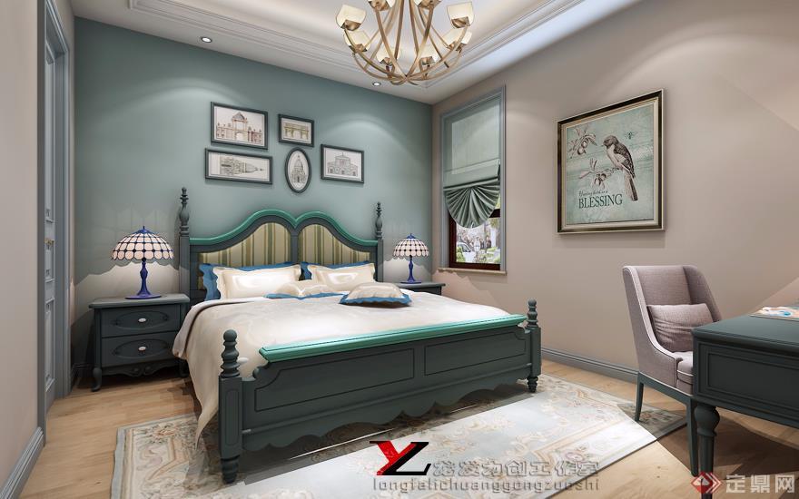 卧室 简美风格 装修效果图