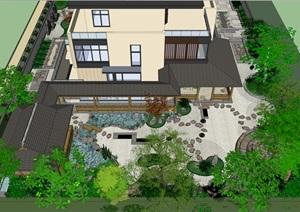 日式庭院景观方案设计SU(草图大师)模型