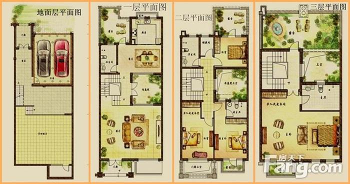 21个联排别墅户型图