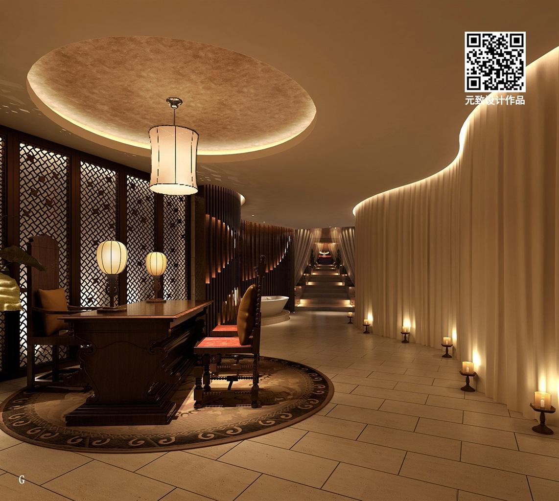spa会所设计中式高端spa装修设计