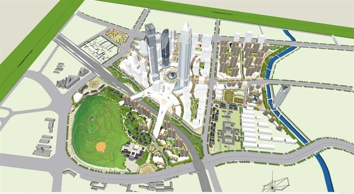 现代城市详细的综合体设计su模型[原创]