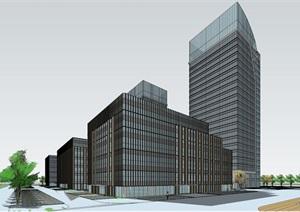 一个科技产业园办公建筑SU(草图大师)模型