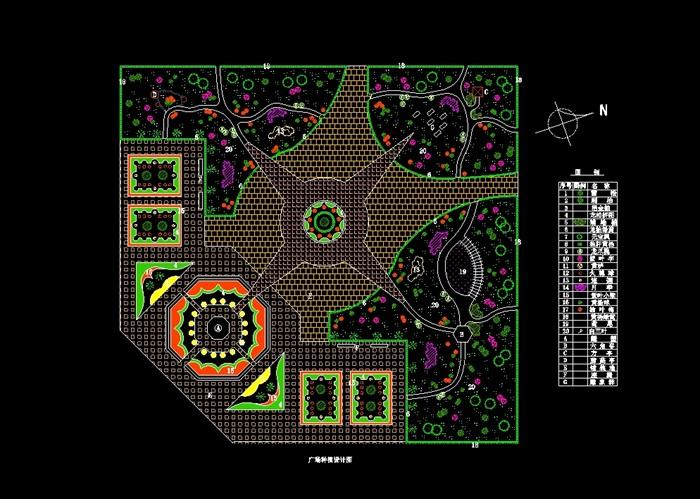 43款广场,小区绿化种植设计cad方案[原创]